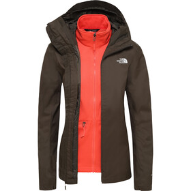 The North Face Tanken Veste Triclimate Femme, new taupe green/radiant orange